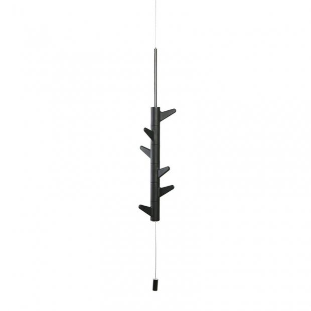 Závěsný věšák na zeď Oka, 6 háčků / čierny