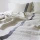 Obliečky Usva 230x220, ľan-sivá