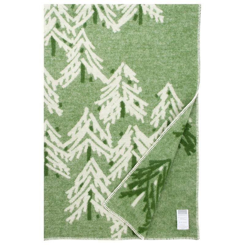 Vlnená deka Kuusi 130x200, zelená