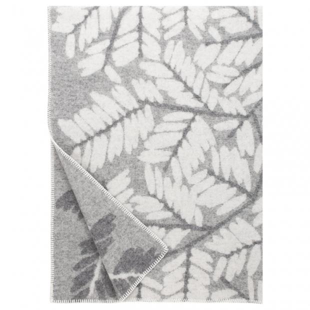 Vlnená deka Verso 130x180, sivá