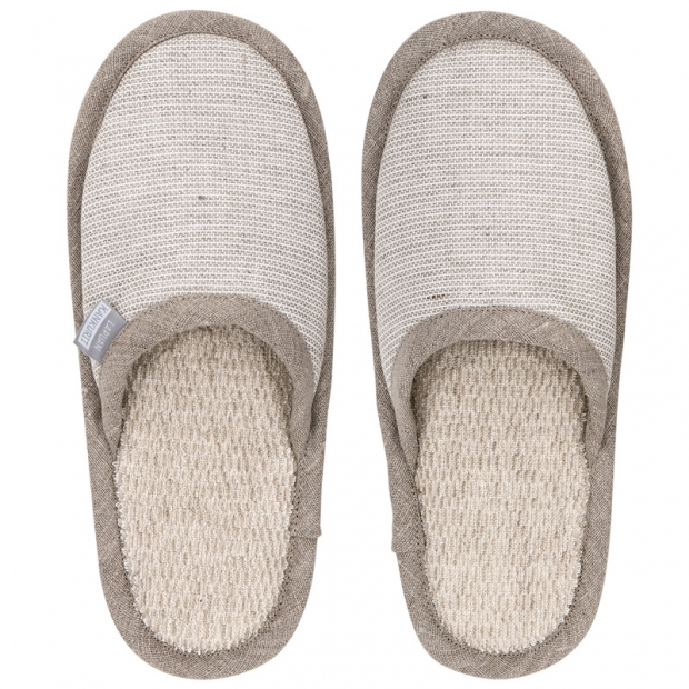 Papuče do sauny Onni S, ľanové