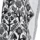 Utěrka Kukat 48x150, bílo-černá