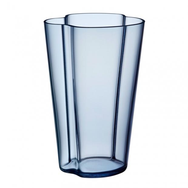 Váza Alvar Aalto 220mm, modrá rain