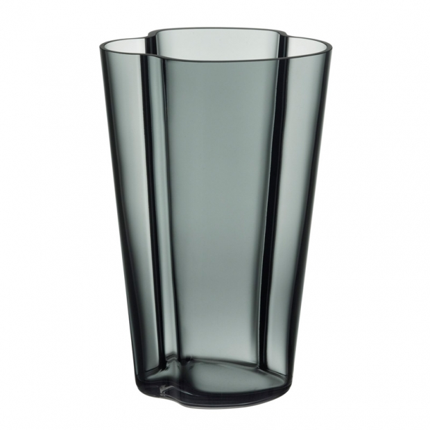 Váza Alvar Aalto 220mm, tmavo sivá