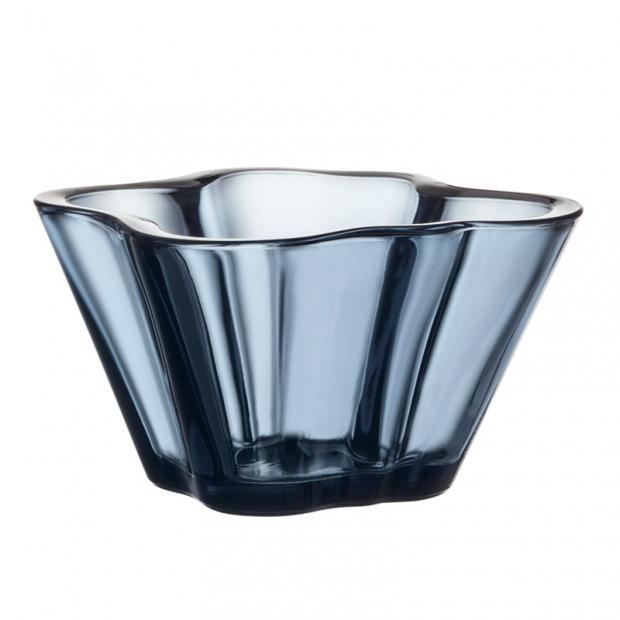 Miska Alvar Aalto 75mm, modrá rain