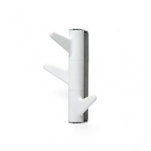 Vešiak na stenu Oka, 3 háčky / biely