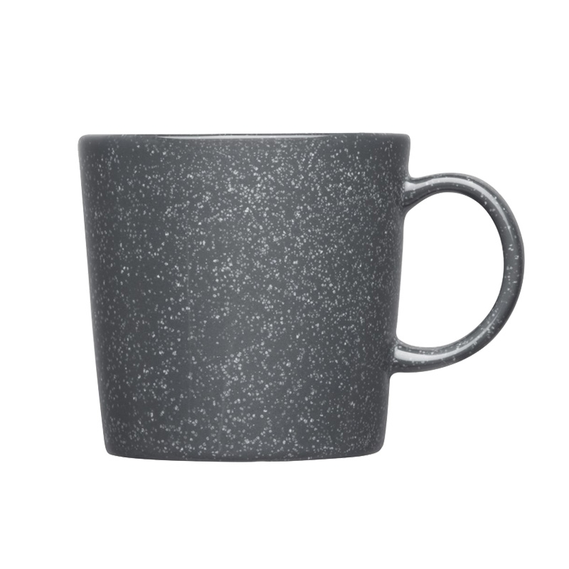 Hrnček Teema 0,3l, sivý s bodkami