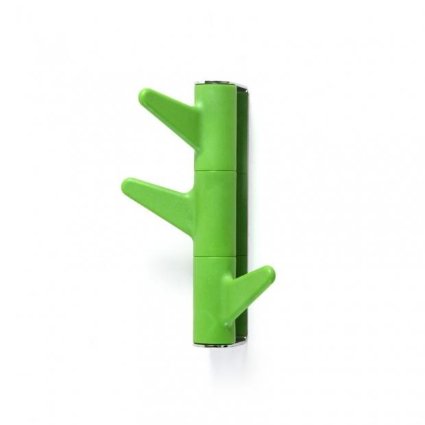 Vešiak na stenu Oka, 3 háčky / zelený