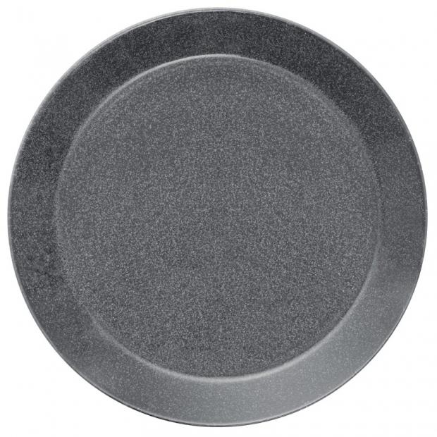 Talíř Teema 26cm, šedý s tečkami