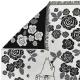 Bavlněná deka Moomin Rose Garden 130x170, černo-bílá