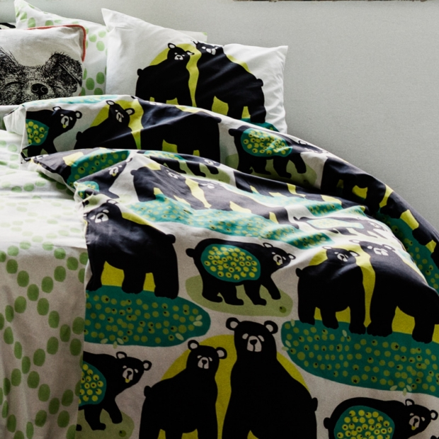 Obliečky Otso 150x210, zeleno-žlté