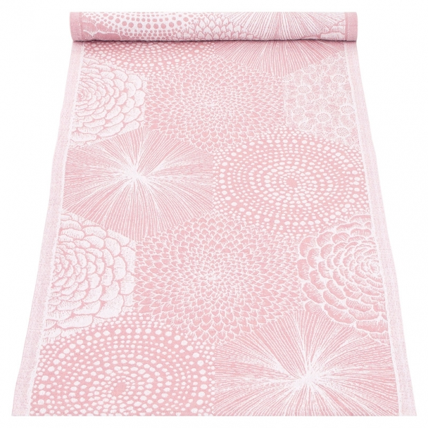 Behúň Ruut 48x150, ružovo-biely