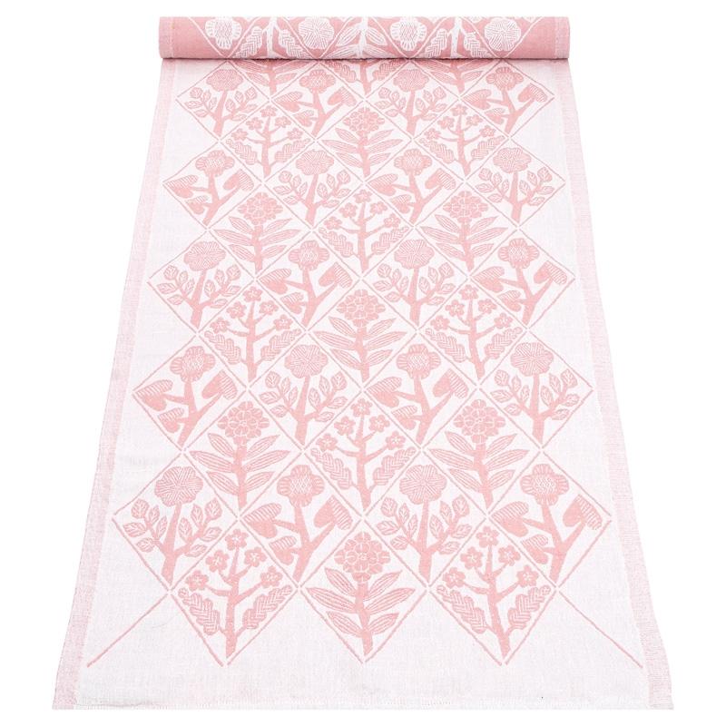 Behúň Kukat 48x150, bielo-ružový