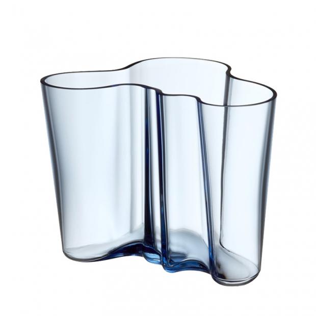 Váza Alvar Aalto 160mm, modrá aqua