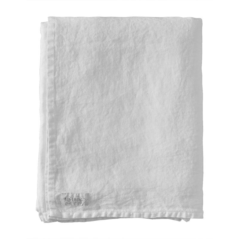 Lněné prostěradlo 150x270, bílé