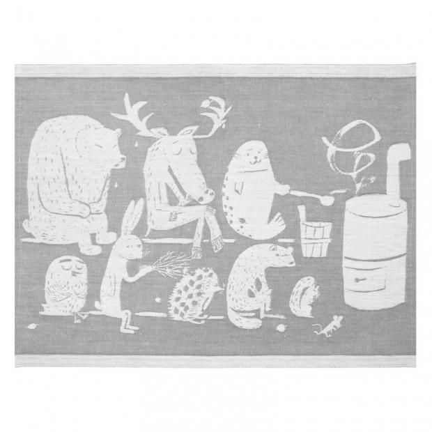 Podložka do sauny Eläinten 46x60, šedá
