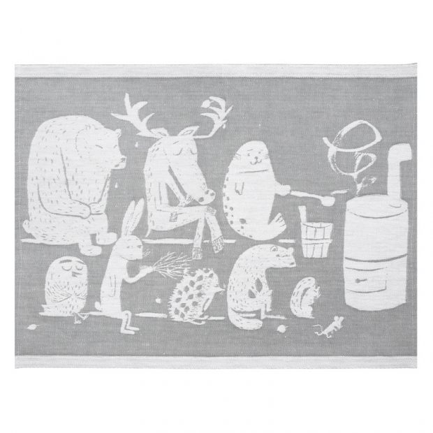 Podložka do sauny Eläinten 46x150, šedá