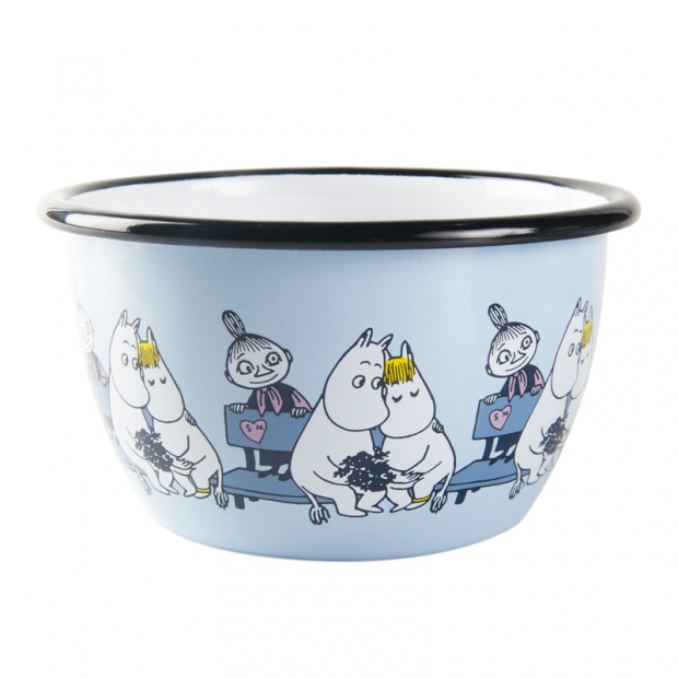 Miska Moomin Friends 0,6l, modrá