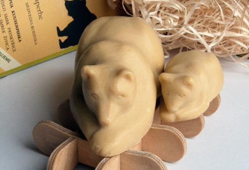 Aamumaa mýdlo medvědí rodinka